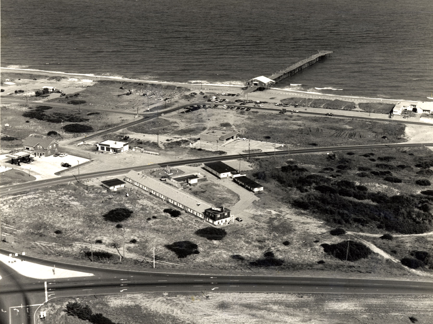 Aerial Photo of Kitty Hawk Pier in 1986 | Photo by David Stick, Outer Banks History Center
