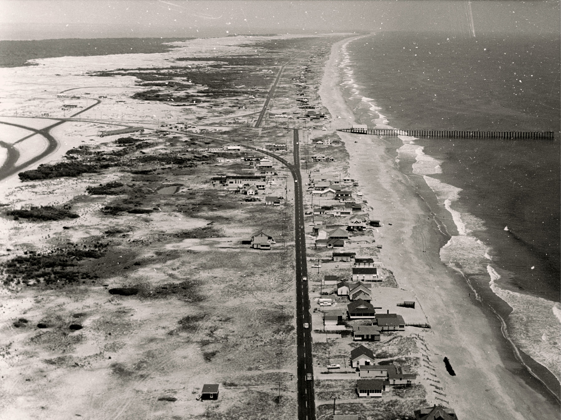 Aerial Photo - Looking North towards Kitty Hawk Pier | Photo by David Stick, Outer Banks History Center