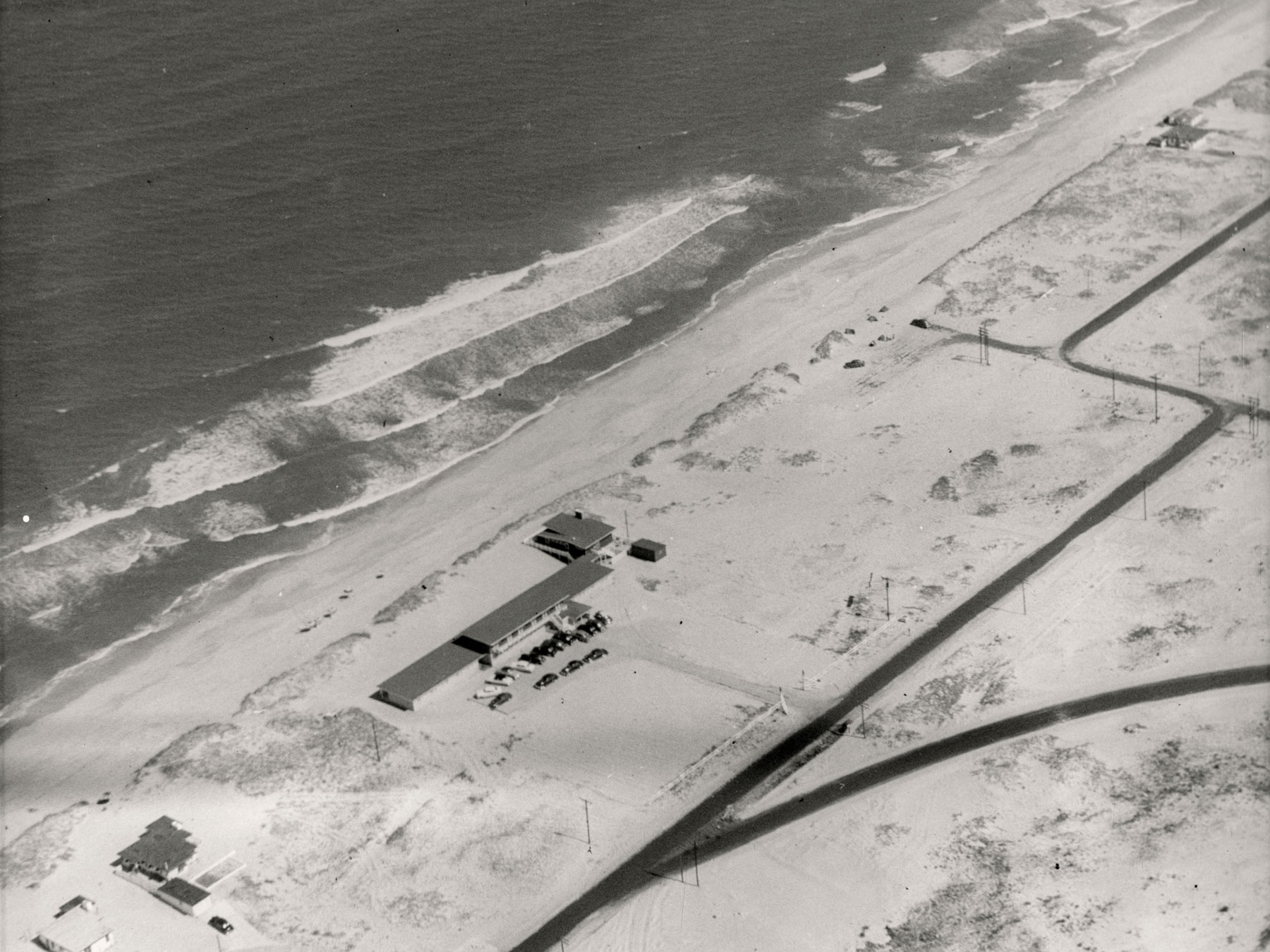 Aerial Photo of Kitty Hawk Prior to Pier Construction | Photo by David Stick, Outer Banks History Center