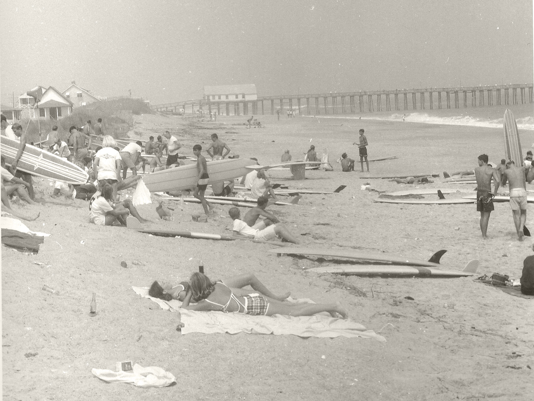 Surfing Contest in Kitty Hawk (1963) | Photo by Aycock Brown, Outer Banks History Center